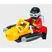 Aqua Series Designer Taucher Seabed Prospector 25PCS Blocks Spielzeug