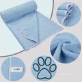 Ultra Soft Pet Living Microfibre Pet Towel for Dog Cats Drying 100cm x 60cm Blue