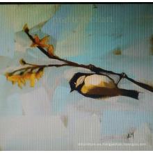 Pintura abstracta del pájaro