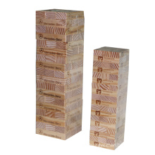 Natural Birch Wood 54 PCS Hot Selling Promotion Wooden Jenga Classic Game