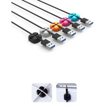 Pinces métalliques auto-adhésives en silicone pour table de chevet
