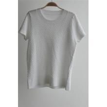 Señoras de cuello redondo Knit Pure Color Sweater