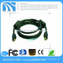 Совершенно новый черный 19pin HDMI на кабель HDMI Поддержка HDTV, домашнего кинотеатра, 1080p
