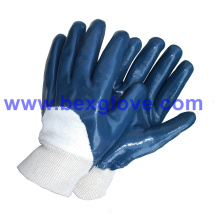 Cotton Jersey Liner, нитрильное покрытие, защитные перчатки с половинным покрытием