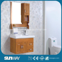 Wall Mounted Solid Wood Bathroom Cabinet with Mirror
