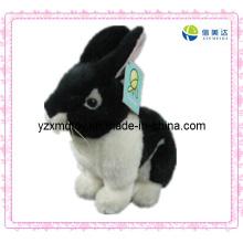 Doce brinquedo de pelúcia brinquedo coelho preto