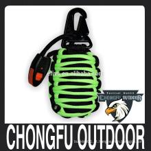 Militar 550 Paracord Grenade Kit de Emergência