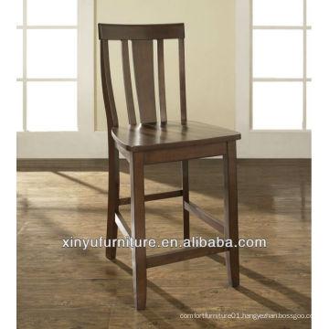 Hand wooden high bar stool chair XYH1008