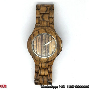 Montres à quartz de qualité supérieure Zebra-Wooden Watches