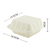 Best selling biodegradable hamburger box /Disposable Corn Starch Food Container
