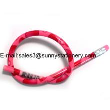 Lápis Bendy Flexível Mágico Colorido com Borracha