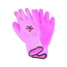 13G Nylon / Polyster Printing Liner Handschuh mit Latex beschichtet