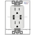 Salida del cargador USB Aprobación GFCI UL, 20A, 125V AC, 60Hz.barep