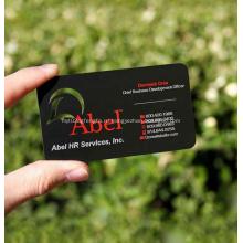 Металлическая персонализированная качественная черная визитная карточка с покрытием из скрабов
