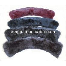 color teñido de calidad superior piel de conejo cualquier tamaño de cuello de piel de conejo