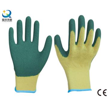 Guantes de trabajo con revestimiento de palma de algodón Shell Latex de 10g