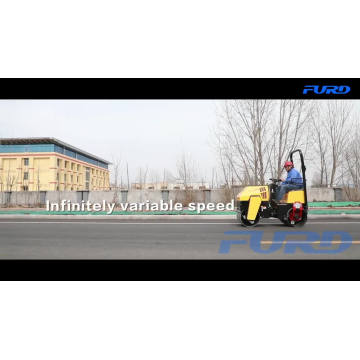 Double Drum Vibratory Mini Road Roller Machine Price For Sale FYL-880