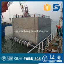 Shunhang en caoutchouc ponton de sauvetage marine fabriqué en Chine