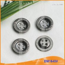 Bouton en alliage de zinc et bouton en métal et bouton de couture métallique BM1649