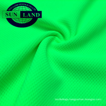EN20471 high visibility clothing fluorescent yellow uv protection birdeye mesh fabric