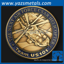 anpassen Metallmünze, Team 101 Air Force Einheit Herausforderung coin1