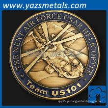 personalize moeda de metal, Team 101 Air Force unit challenge coin1