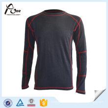 Chemises unies de sous-vêtements à manches longues