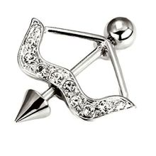 Cupid Arrow Nipple Ring Body Jewelry