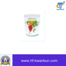 High Quality Glass Cup with Printing Tableware Kb-Hn0762