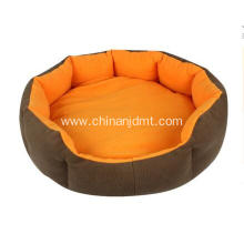 Blue and orange pet beds