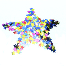 Papier Star coloré et confettis métalliques