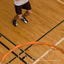 Durable UV pintura arce de madera maciza de interior de baloncesto Cancha de deportes