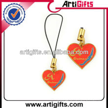 fashion metal cell phone charm string and strap