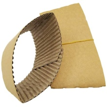 Biodegradable Paper Cup Coffee Sleeve Custom Color Printing Style Packaging Material Cup Sleeve
