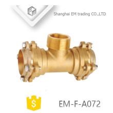 EM-F-A072 Tipo de latón reductor latón en T brida rosca macho accesorios de tubería