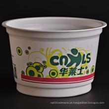 Cubeta descartável de plástico para alimentos