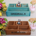 Wooden desk tray makeup organizer storage box