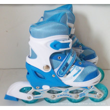 Kids Sport PU Wheels Blue Inline Skates