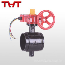 viton nbr seat electric upvc butterfly valve with tamper switch