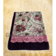 2016 latest 50%wool 50%silk scarf with twill face