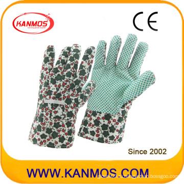 Ткани из хлопчатобумажной ткани с поливинилхлоридом (ПВХ) Рабочие перчатки для обеспечения безопасности в промышленной безопасности (41003)