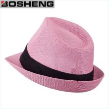 Nuevo sombrero del casquillo de paja del borde del verano de la playa de Trilby