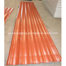 Material de construcción de la hoja de techumbre acanalada de acero PPGI