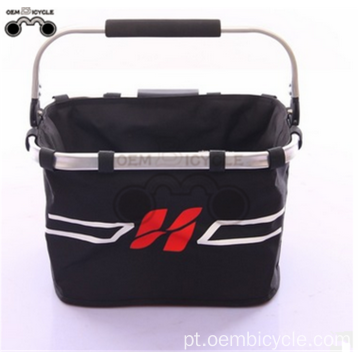 Folding bike basket high quality aluminum alloy bicycle front bag for mountain bike