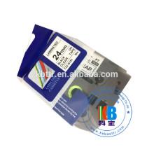 TZ 18MM Ruban pour imprimante d'étiquettes thermiques laminées compatible
