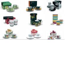 Xícara de café de porcelana e pires para BS120801A