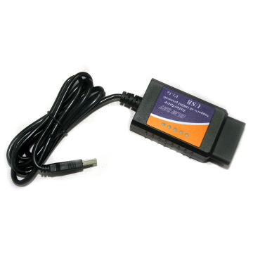 OBD2 Interfaz de escáner Auto Elm 327 USB V2.1