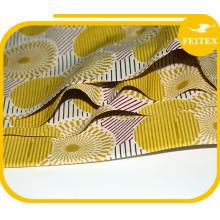 Tissu de cire africain de haute qualité en gros 6 yards chaque morceau de tissu imprimé en cire en stock