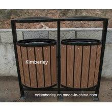Высококачественная древесная пластмассовая композитная мусорная корзина WPC