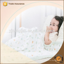 High Quality Soft Touch 100% Muslin waddle Blanket Factory from China